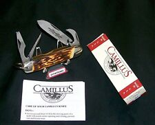 Camillus 97 Sword Brand Knife USA Indian Stag Camper 1970's W/Packaging & Papers