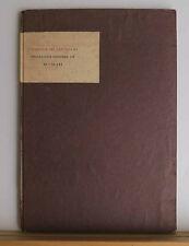Stamperia Del Santuccio Broadside Number III 1961 #38/100 Bachofen / The Walls