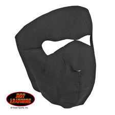 Black Neoprene Full Face Mask Facemask Lightweight Stretchable Velcro Close