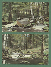 2 X 1900'S PRETTY RAPHAEL TUCK WIDE WIDE WORLD CARDS - HARZ MOUNTAINS RIVER ILSE