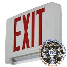 Red All Led Exit Sign Amp Emergency Light Bar Combo Ul Combolp