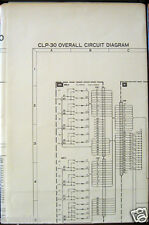 Yamaha CLP-30 Clavinova Digital Piano Original Overall Circuit Diagram Sheet