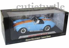 Shelby Collectibles 1965 Shelby Cobra 427 S/C 1:18 Light Blue W Orange Stripes