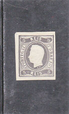 PORTUGAL D. LUIS I 5 REIS IMPERFORATED REPRINT (1885)   MLH