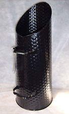 !!!NEW!!! Deville Weave Coal Hod Ash Fire Log Holder Bucket & Handle BLACK