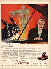 1945 Victor Records Print Ad Pianist Jose Iturbi De Falla's Ritual Fire Dance