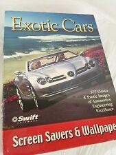 Exotic Cars Screen Savers & Wallpaper (PC) (New and Sealed) Jaguar, Mercedes