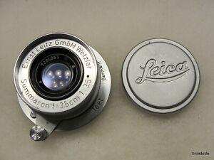 Leica Summaron 3.5cm 35mm F=3.5 L39 Screw Mount Lens (Feet)