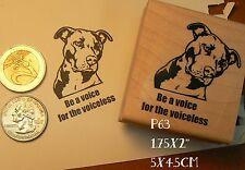 P63 Pit-bull Dog awareness rubber stamp