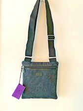 Etro NWT Black Paisley Fabric Small Crossbody Shoulder Purse Bag Retail $345