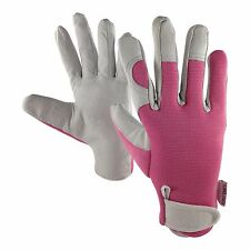 Ladies Leather Garden Gloves Medium - Work Gloves for Women - Ideal Garden Gift