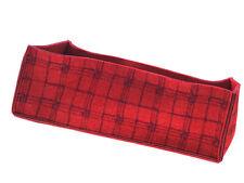 colorkitchen Körbchen Brotkorb Tweed länglich in purpur-mohn 45 x 18 cm aus Filz