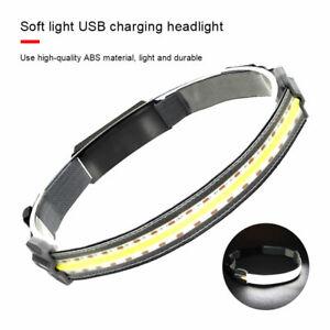 Waterproof Outdoor USB Rechargeable COB LED Headlamp Headlight Torch Light Lamp