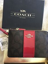 Coach NWT Wristlet Brown Red