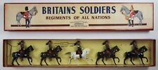 Vtg Britains Lead Toy Soldiers French Army Mounted Cavalry Cuirassiers #138 Box