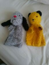 Vintage 1970s Sooty And Sweep Hand Puppets,