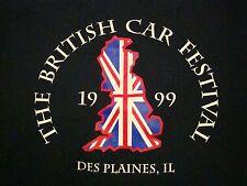Vintage British Car Festival Show Des Plaines IL UK Flag England 90's T Shirt M