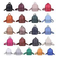 Small PU Leather Backpack Students School Shouder Bag Handbag for Women Girls AU
