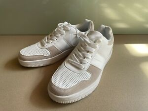 Womens Brand New Sneakers White Beige Size 39