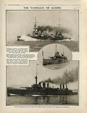 Vaisseaux de Guerre Cuirassé d'Escadre Patrie/Danton /Diderot  lance 1914 WWI