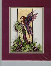 Wine Queen print Amy Brown Matted Mini-Print Fairy Rare!
