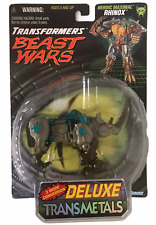 Transformers Beast Wars Transmetals Rhinox 1997 Action Figure NEW Kenner Gray