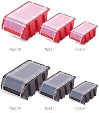 Lagerboxen mit Deckel Leiste Wandtafel Stapelboxen Stapelkästen Sortierbox