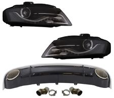 Für Audi A4 B8 08-12 RS4 Look Diffusor + Led Scheinwerfer Felgen Stoßstange #1