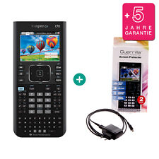 Ti nspire CX CAS Calculatrice graphique Ordinateur + Film de protection câble de charge garantie
