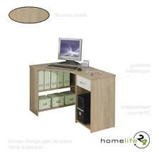 Bureau d'angle multifonctions sonoma chêne avec 1 tiroir et des étagères pour...