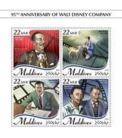 Maldives Walt Disney Stamps 2018 MNH Famous People Cartoons Salvador Dali 4v M/S