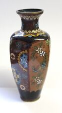 19th Century Japanese Cloisonné Hexagon Vase 6""