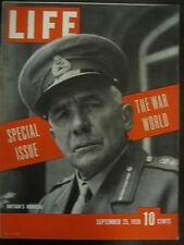 LIFE Sept 25 1939 Germany invades Poland, US neutrality debate, Hitler profile