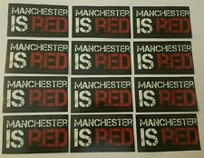 Manchester is Red Stickers - Man United MUFC Football Sticker Set - Red Devils