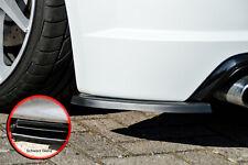 Heckansatz Spoilerecken Seitenteile aus ABS für Audi TTS 8S in Schwarz Glanz
