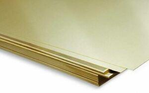 Sheet Brass 1mm CuZn37 Panels 2.0321 Metal Selectable Cut Sheet Metal
