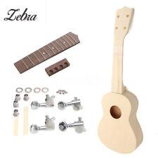 21'' Ukulele DIY Maple Wood Rosewood Musical Instrument Hawaiian Uke Guitar Kit