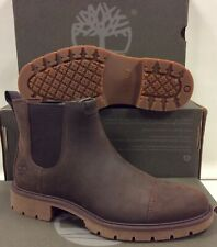 Timberland Elmhurst Chelsea Leather Mens Boots Shoes A26J8, UK 9 / EU 43.5