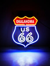 "HISTORIC ROUTE 66 Road Map Oklahoma Cola Bike Beer Bar NEON Light Sign 11""x8"""