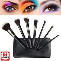 7Pcs Makeup Brushes Kabuki Foundation Blending Eyeshadow Blush Powder Brush Set