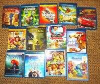 Children's & Family Lot of 13 Blu-ray Disc Movies Disney Brave, Frozen, Muppets
