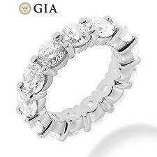Gia 5 ct Round Diamond Eternity Ring Platinum Band 14 x 0.35-0.37 ct E-F Vs sz 4