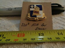 320th Army Security Agency Battalion Stone Unit Crest, Di, Dui (Draw#S17)