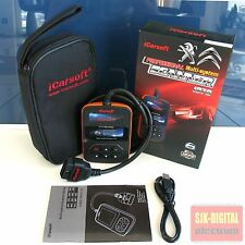 iCarsoft i970 PEUGEOT CITREON Diagnosegerät CAN-BUS Motor Airbag ABS Getriebe !!