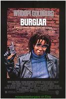 BURGLAR MOVIE POSTER Original SS 27x40 WHOOPI GOLDBERG 1987