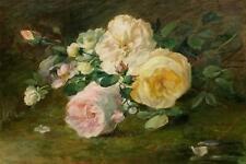 Anna Wheelwright -British -19th Century Still Life with Roses