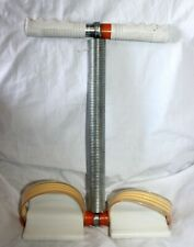 Vintage Resistance Exercise Trainer Handlebars Springs And Foot Pedals!