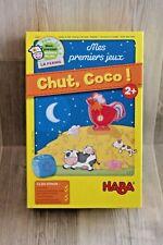 Mes premiers jeux HABA - Chut, Coco ! - pièces carton et bois - complet TBE