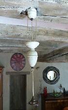SUSPENSION Ancienne MONTE & BAISSE Porcelaine 3 brins RARE !