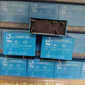 SANYOU SMI-S-112D 12VDC Power Relay 12VDC 5Pin 10A 250VAC